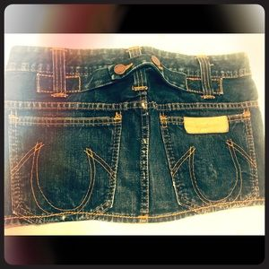 True Religion Jean skirt Size 28